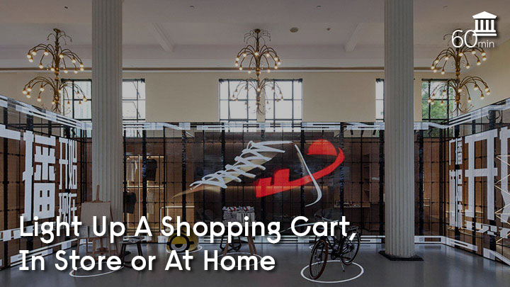 Light up a shopping cart